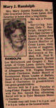 Mary Jaunita <I>Dean</I> Randolph