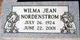 Wilma Jean <I>McCall</I> Nordenstrom