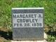 Margaret Ann <I>Carrothers</I> Crowley