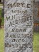 Profile photo:  Mary Elizabeth <I>Michaels</I> Aldridge