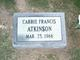 Carrie Francis Atkinson