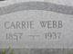 Carolina Charlotte <I>Stamm</I> Webb