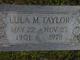 Lula Margaret <I>Applegate</I> Taylor