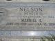 """Merrill E. """"Nellie"""" Nelson"""