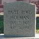Hazel <I>Lewis</I> Holman