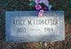 Profile photo:  Alice Malinda <I>Ledgerwood</I> Ledbetter