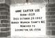 """Anne Carter """"Annie"""" Lee"""