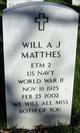 Will A. J. Matthes