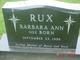 Barbara Ann <I>Born</I> Rux