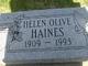 Helen Olive <I>Enegren</I> Haines