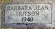 Barbara Jean Hutson