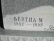 Profile photo:  Bertha W. Brinkley