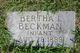 Bertha Irene Beckman