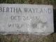 Profile photo:  Bertha S Wayland