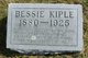 "Emma Belle ""Bessie"" <I>Leasman</I> Kiple"