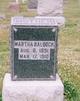 "Martha ""Mattie"" <I>Goff or Gauf</I> Baldock"