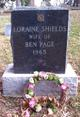 Loraine Calvin <I>Shields</I> Page