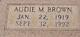 Profile photo:  Audie M <I>Pinkard</I> Brown