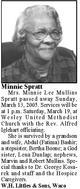 Minnie <I>Mullins</I> Spratt