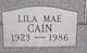 Lila Mae Cain