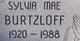 Sylvia Mae Burtzloff