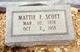 Mattie Frances <I>Clements</I> Scott