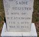Sadie <I>Register</I> Atkinson