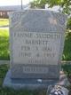 Fannie <I>Suddeth</I> Barnett
