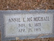 Profile photo:  Annie Maggie <I>Livingston</I> McMichael