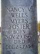 Nancy Virginia <I>Wells</I> Foster