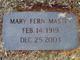 Mary Fern Mastin