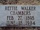 Rettie Jane <I>Walker</I> Chambers