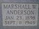 Marshall Wilbur Anderson