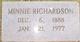 Profile photo:  Minnie <I>Gray</I> Richardson