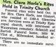 Clara C <I>Glanert</I> Horle