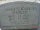 Sarah Elizabeth Shirley