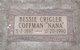 "Bessie ""Nana"" <I>Crigler</I> Coffman"