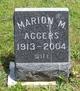 Profile photo:  Marion M. Aggers