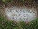 "Profile photo:  Albert Erastus ""Rass"" Beeker"