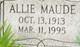 Profile photo:  Allie Maude <I>Rogers</I> Alexander