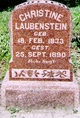 Christine <I>Eimmerman</I> Laubenstein