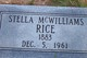 Stella Elizabeth <I>McWilliams</I> Rice