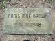 Profile photo:  Annis Mae Brown