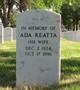 Profile photo:  Ada Reatta <I>Burdine</I> Wardlaw