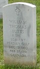 Sgt William Thomas Butts