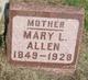Mary Lavina <I>Gillis</I> Allen