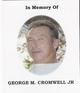 Profile photo:  George M Cromwell, Jr