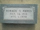 Horace T Hayes