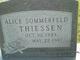 Alice <I>Sommerfeld</I> Thiessen