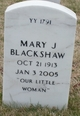 Profile photo:  Mary J. Blackshaw